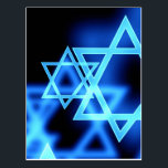 "Star Of David Postcard<br><div class=""desc"">Stars of David on a dark background © and ® Bigstock® - All Rights Reserved.</div>"