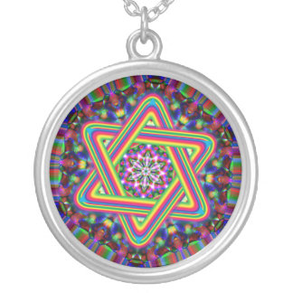Star of David Rainbow necklace