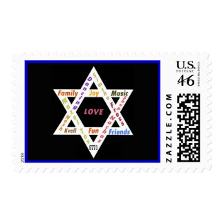 Star of David Rectangle Postage