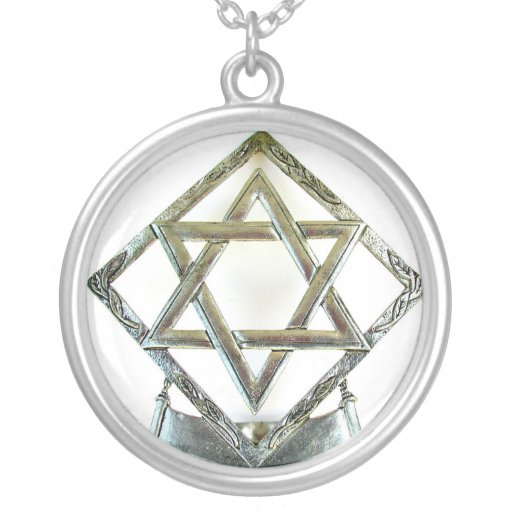 STAR OF DAVID ROUND PENDANT NECKLACE