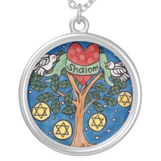 Star of David Round Pendant Necklace
