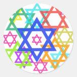Star of David Round Stickers