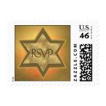 Star of David RSVP Postage Stamp