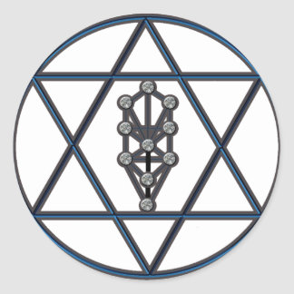 Star of David & Sefirah Classic Round Sticker