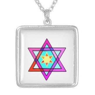 Star of David Jewish Theme Lockets Personalized