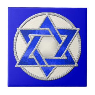 Star of David Small Square Tile