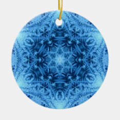 Star Of David Snowflake Ornament at Zazzle