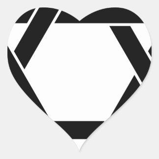 star of David Heart Sticker