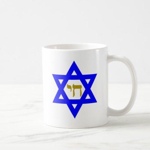 STAR of David & Symbol of  LIFE Classic White Coffee Mug