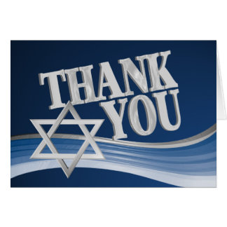 Star of David Thank You Card