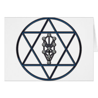 STAR of DAVID & Tree of Life Card