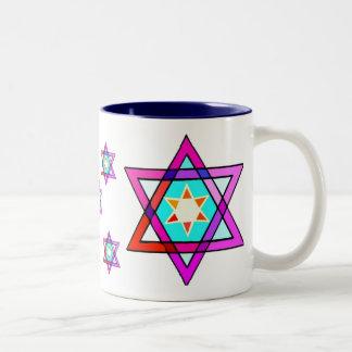 Star Of David Two-Tone Coffee Mug