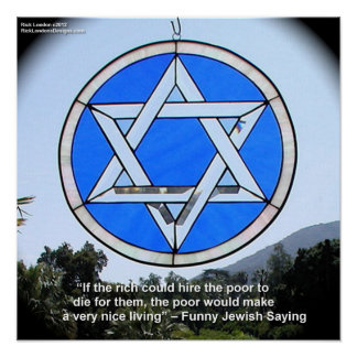 Star Of David W/Funny Jewish Quote Poster Posters