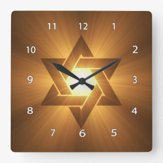 Star of David Wall Clock Square Wall Clocks