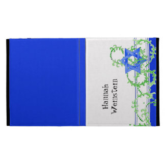 Star of David Watercolor Leaf Dot Swirl Invite iPad Folio Covers