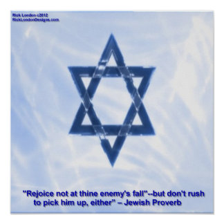 Star Of David With Funny Jewish Proverb Poster Poster
