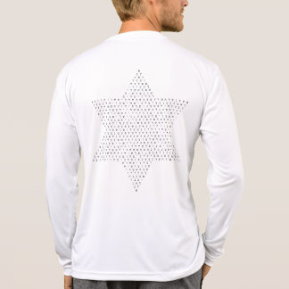 Star of David with Hebrew Letters / on backside T-Shirt