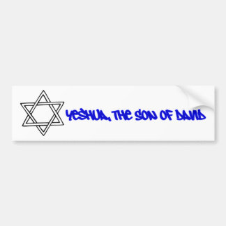 Star of David - Yeshua, The Son of David Car Bumper Sticker