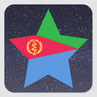 Star of Eritrea Flag Square Sticker