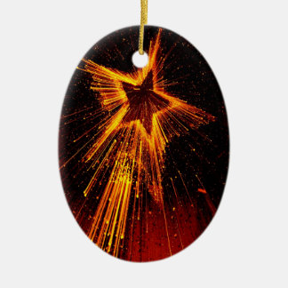 Star of Fire Christmas Ornament