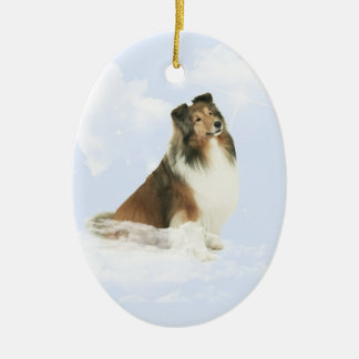Star of Grace Double-Sided Oval Ceramic Christmas Ornament