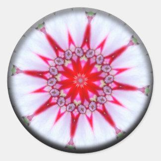 Star of Hope Mandala Classic Round Sticker