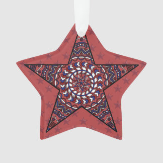 Star of Independence Acrylic Ornament