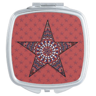 Star of Independence Compact Mirror
