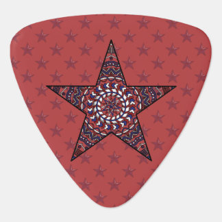 Star of Independence Guitar Pick
