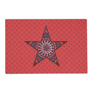 Star of Independence Laminated Placemat
