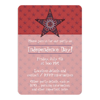 Star of Independence Party Invitation