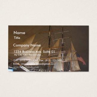 Star Of India Sails Sailing Ships Boats Business Card