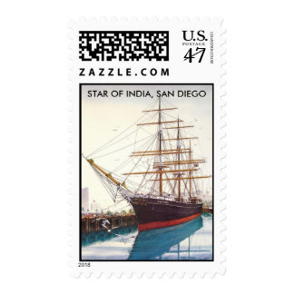 STAR OF INDIA, SAN DIEGO , CALIFORNIA POSTAGE STAMP
