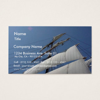 Star Of India Ship Sails Boat Business Card