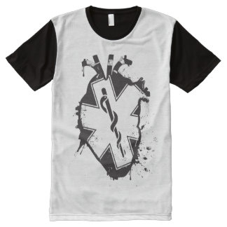 star of life anatomical heart All-Over-Print shirt
