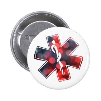 star of life bokeh pinback button