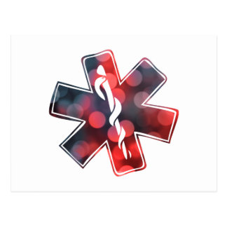star of life bokeh postcard