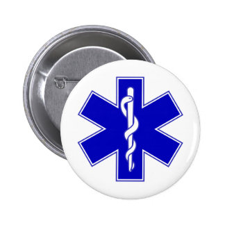 Star of Life 2 Inch Round Button