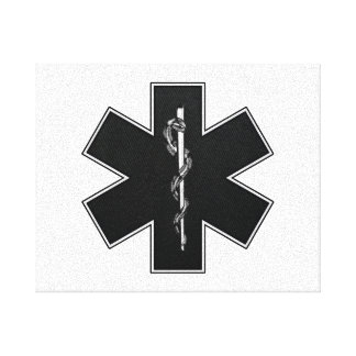 Star Of Life(BW) Gallery Wrapped Canvas