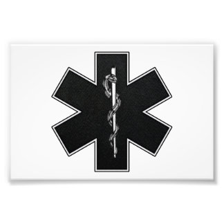 Star Of Life(BW) Photo Print