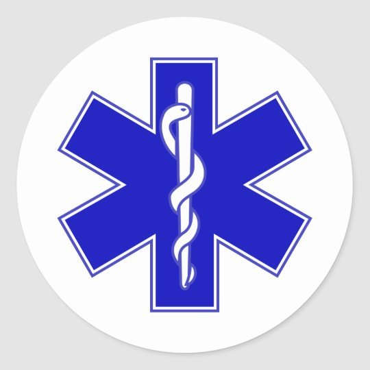 Star of Life Classic Round Sticker