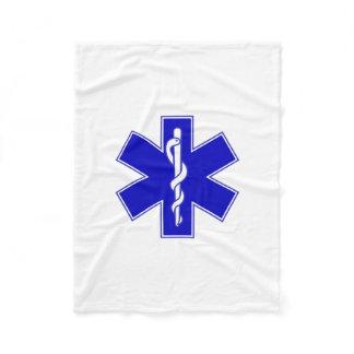 Star of Life (EMT) Fleece Blanket