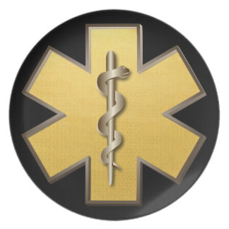 Star Of Life(Gold) Plate