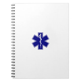 Star Of Life (logo only) Spiral Note Book