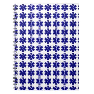 Star Of Life (logo only, tiled) Spiral Notebook