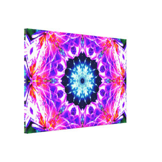 Star Of Life Mandala Canvas Print