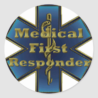 Star of Life - Medical First Responder Classic Round Sticker