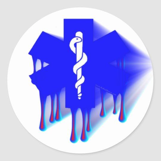 Star Of Life Melting Classic Round Sticker