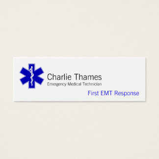 Star of Life Mini Business Card