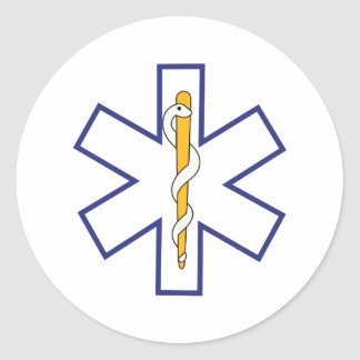 Star of Life Outline Classic Round Sticker